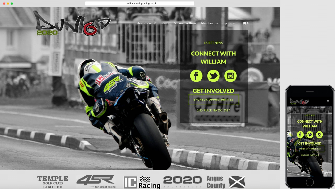 racing responsive website design